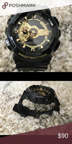 Limited edition Black/Gold G-Shock Perfect condition, is an overall amazing watch! G-Shock Accessories Watches