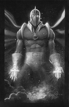 FATE, located in Eddy's Eddy's Pinup Art Comic Art Gallery Dc Comics Heroes, Dc Comics Characters, A Comics, Comic Book Covers, Comic Books Art, Comic Art, Dr Fate, Black And White Comics, Nerd Art
