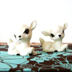 vintage deer miniature figurines woodland by thriftonica on Etsy. $12.00, via Etsy.