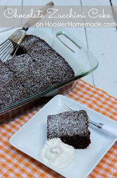 Chocolate Zucchini Cake :: Recipe on HoosierHomemade.com