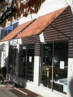 Thaihouse express - Wood Slats Awnings over windows | by icawnings