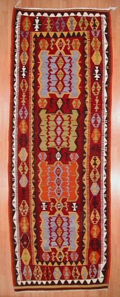 Kilim rug to upholster a bench or ottoman, make pillows.