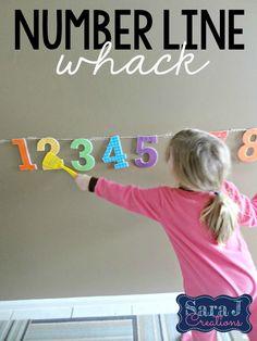 Sara J Creations: Number Line Whack