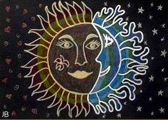 Meer dan 1000 afbeeldingen over zon en maan op pinterest zon azteeks en lucht - Koude en warme kleuren ...