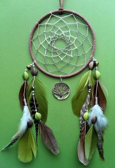 Dream Catcher - Tree of Life - Green and Brown - Woodland