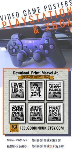 Perfect For Teenage Bedroom Decor Game Room Or Decorating A Man Cave With Style Perfect For Teenage Bedroom Video Game Print Video Game Posters Game Room