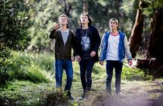 Matt Testro, Dougie Baldwin and Rahart Adams in Nowhere Boys season two.