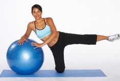 How to Do an Outer Thigh Lift with Stability Ball.