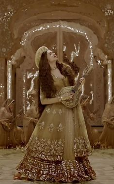 bajirao mastani mastani dress - Google Search Minus the hat Pakistani Bridal, Pakistani Dresses, Indian Dresses, Deewani Mastani Dress, Indian Wedding Outfits, Indian Outfits, Indian Designer Outfits, Designer Dresses, Bollywood Fashion