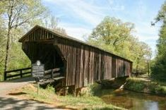 """""""RED OAK COVERED BRIDGE""""....(Sometimes called the Imlac Bridge), Woodbury, Georgia.  (My husband and me found this Covered Bridge today while out riding in the Country)."""