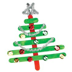 Popstick Christmas Tree Ornament - CleverPatch