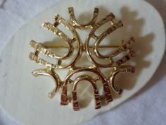 Vintage Sarah Coventy Dome Gold Tone Brooch by SelectionsBySusan for $12.00