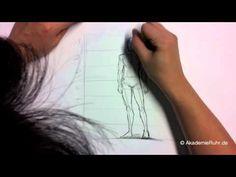 Zeichnen lernen - Aufbau einer männlichen Figur - Akademie Ruhr Tutorial
