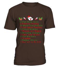 Nurses 12 Days Of Nursemas Christmas T Shirt  Funny Nurse T-shirt, Best Nurse T-shirt