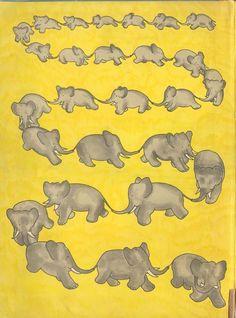 Elephants all in a row