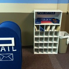 Preschool post office - now this is what a preschool post office should look like.