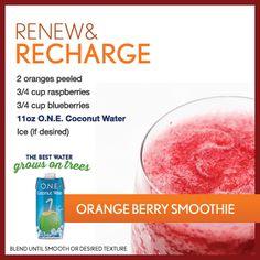 Renew & Recharge Orangeberry Smoothie