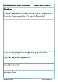 conocimiento del medio primaria 22 Social Science, Socialism, 3rd Trimester, Knowledge, Strength, Note Cards, Third, Social Studies