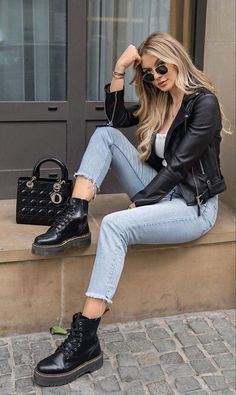 Casual Winter Outfits, Winter Fashion Outfits, Classy Outfits, Look Fashion, Stylish Outfits, Spring Outfits, Vintage Outfits, Simple Edgy Outfits, Size 8 Fashion