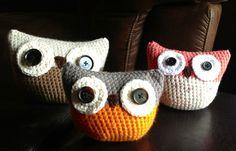 Crochet owl decor