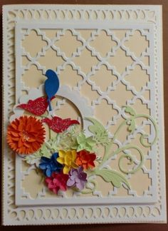Quatrefoil Die Cut Card by Charminglycreative - Cards and Paper Crafts at Splitcoaststampers