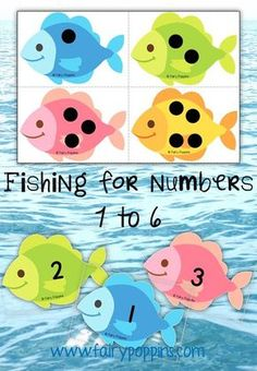 Fun number fishing game for preschool! Great fit for an ocean unit.