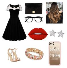 """Untitled #117"" by cazacubianca on Polyvore featuring Nasty Gal, Victoria Beckham, Lime Crime, CZ by Kenneth Jay Lane, Design Lab and Casetify"