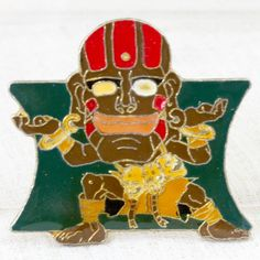 Street Fighter 2 Metal Pins Badge Dhalsim Capcom Character JAPAN GAME