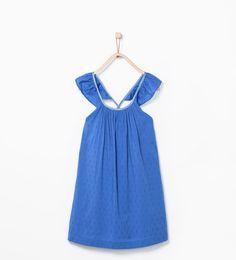 Image 2 of Frilled sleeve jacquard dress from Zara