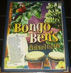 Bongo Ben's Big Island Cafe Hawaii Restaurant Menu Tropical Food Hawaiian Drinks