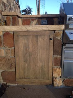 Finished outdoor kitchen cabinet