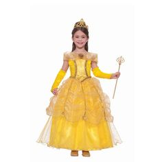 golden dress girls Halloween costume .Halloween gifts for girls