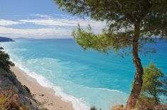 Lefkada island is one of the most beautiful Greek destinations. Lefkada is mostly famous for the fantastic beaches, especially on its western side >> Costa, Places In Greece, Greek Beauty, Beaches In The World, Greece Travel, Greek Islands, Vacation Destinations, Beautiful Beaches, Strand