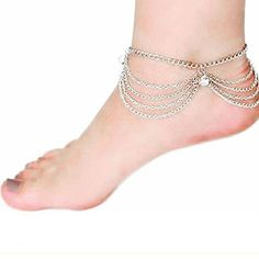 Exotic La Mia Cara Jewelry & Accessories The exotic looking Luci anklet is a great option for the nights at the beaches. La Mia Cara Jewelry - Luci - Crystal Gold Sandy Beach Tassel Charm Anklet Gold Plated with 1 Crystal Anklet Bracelet, Anklets, Gold Anklet, Women Jewelry, Fashion Jewelry, Fashion Fashion, Fashion Accessories, Beach Fashion, Bridal Accessories