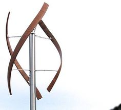 A new turbine design, with wooden blades, is powered by wind coming from any direction.