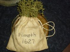 Olde Plimoth Ditty Bag with Sweet Annie Sweet Annie, Muslin Bags, Pilgrims, Primitives, Burlap, Container, Thanksgiving, Gardens, Homemade