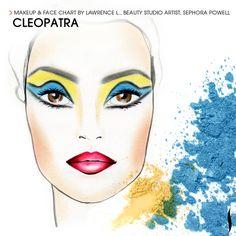 Cleopatra Makeup Look Fete Halloween, Halloween Make Up, Halo Halloween, Cleopatra Halloween, Halloween Costumes, Creative Makeup, Simple Makeup, Sunset Music Festival, Cleopatra Makeup