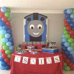 Isaias' 3rd Birthday - Thomas the Train theme