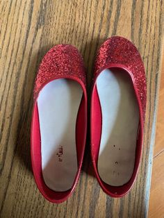 b77c33fc4 Ruby Slippers Red Sparkle Glitter Shoes Flats Girls Size 3  fashion   clothing  shoes