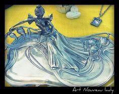 Art Nouveau tray in the flea market.