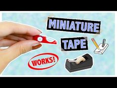 Working Miniature Tape Dispenser ~ Mini School Supplies DIY ♥ - YouTube