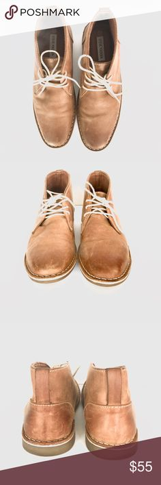 Men's Steve Madden Irie Tan Chukka Boots Men's Steve Madden Irie Tan Chukka Boots, size 8 1/2. Normal wear. Soles look good. Some scratches on Leather as shown in pictures. Smoke free home. Steve Madden Shoes Chukka Boots