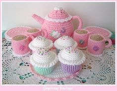 NEW LOWER PRICE pdf Crochet Pattern Tea by gingersnapboutique