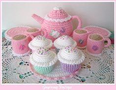 crochet tea set!