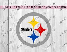 SVG PITTSBURGH STEELERS logo digital vector by MamaCraft4You Pittsburgh Steelers Logo, Cricut, Chart, Silhouette, Digital, Silhouettes