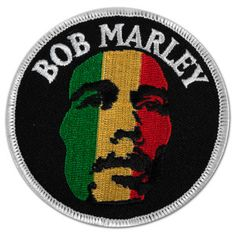 This round Bob Marley Patch features Bob Marley's face in rasta colors. Get yours at BobMarleyShop.com!