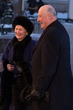 Queen Sonja of Norway and King Harald V of Norway attend their 25th anniversary as monarchs on January 17, 2016 in Oslo, Norway.