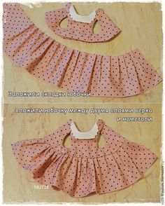Good tutorial and pattern for sewing a tiny dress.  I would do the collar a bit differently