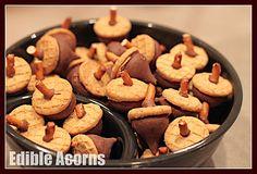 edible acorns - so cute!