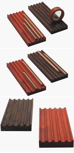 Wooden Desktop Pen Pencil Storage Holder